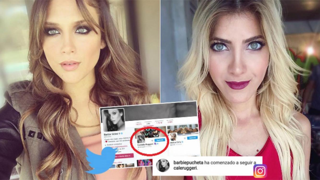 Barbie Vélez volvió a seguir a Candela Ruggeri en Twitter e Instagram (Foto: Twitter e Instagram)