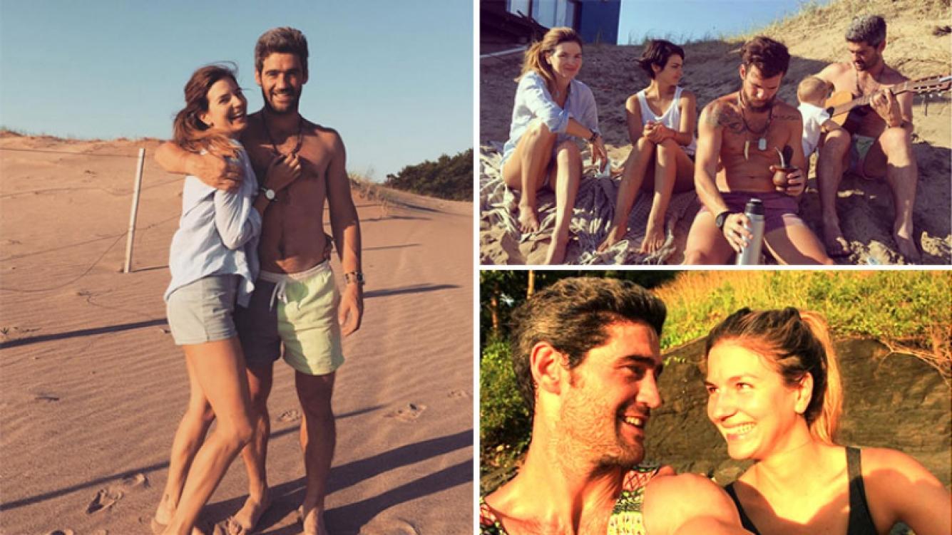 Marcela Kloosterboer y Fernando Sieling recibieron el 2017 de vacaciones con amigos. Foto: Instagram