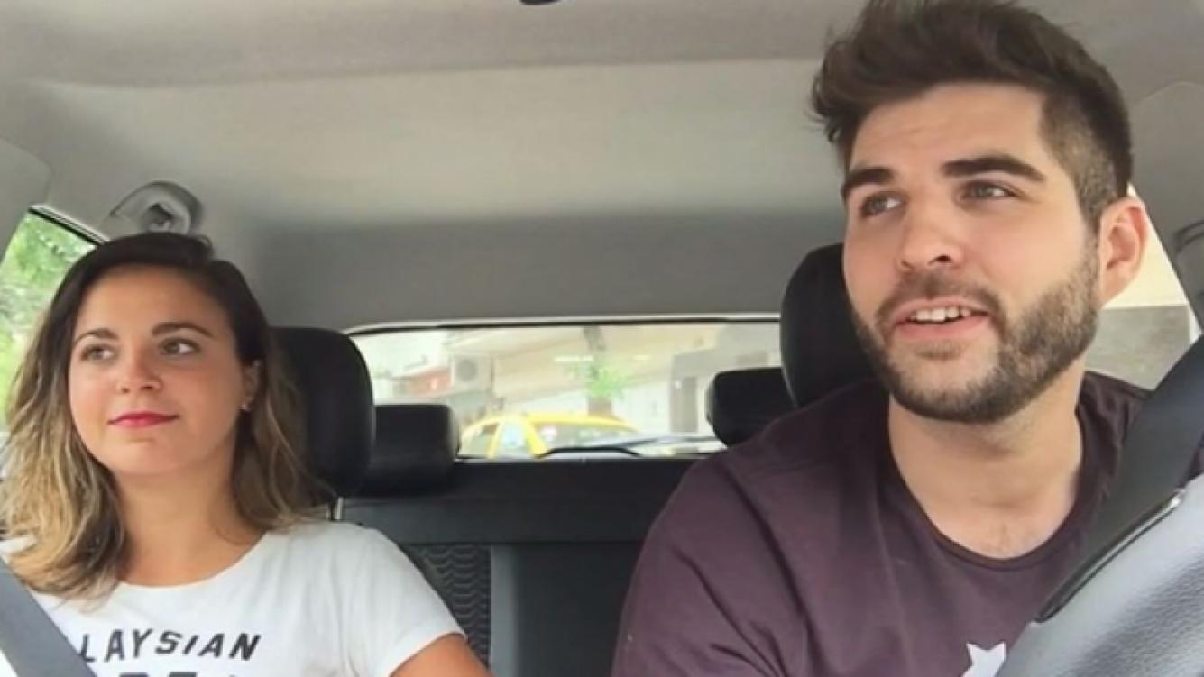 Magalí Tajes y un divertido video a bordo del Chevrolet Onix de Juampi González.