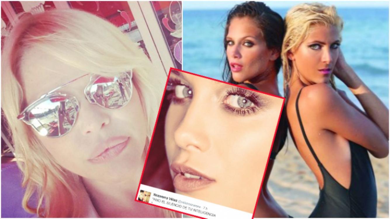El tweet de Nazarena Vélez tras la pelea de Barbie Vélez con Cande Ruggeri (Fotos: Instagram, Twitter y Web)