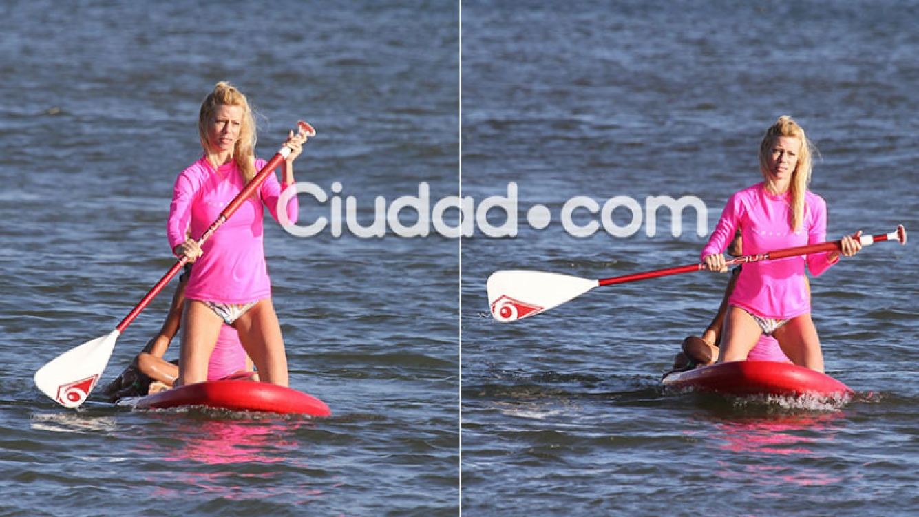 Nicole Neumann, la diosa acuática que realizó Paddle surf en las playas de Punta del Este (Foto: GM Press)