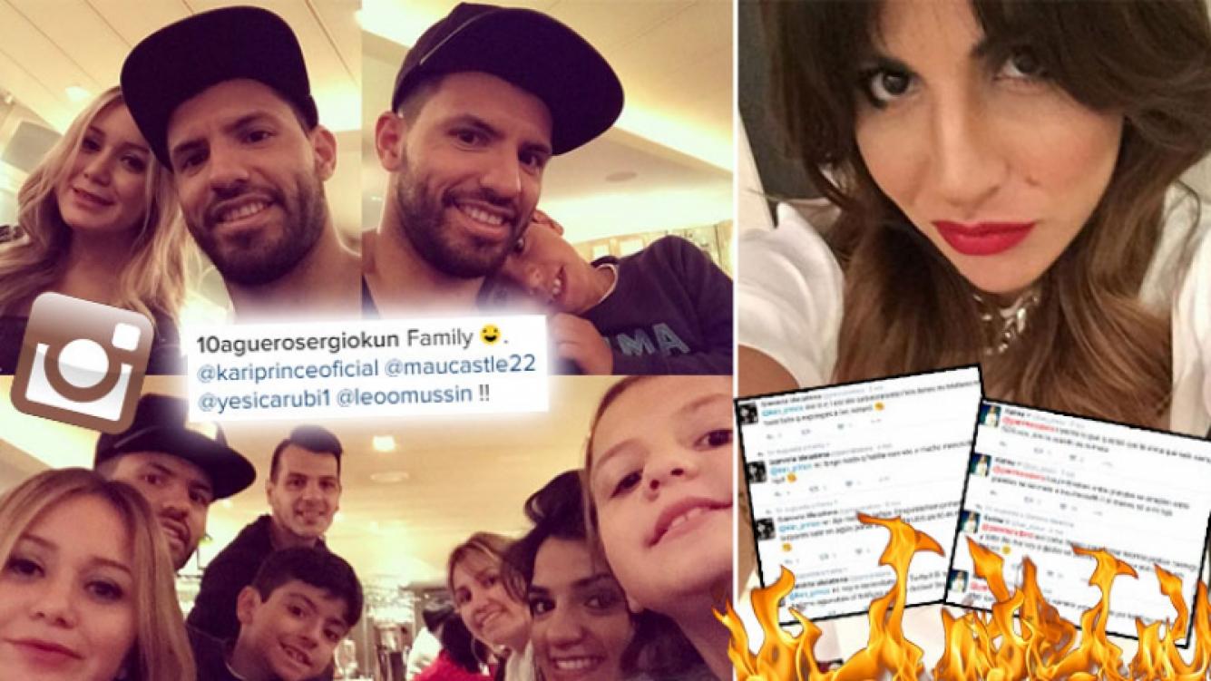 Kun Agüero y una elocuente foto, tras el escándalo twittero de Gianinna con su hermana y la Princesita. (Foto: Instagram)
