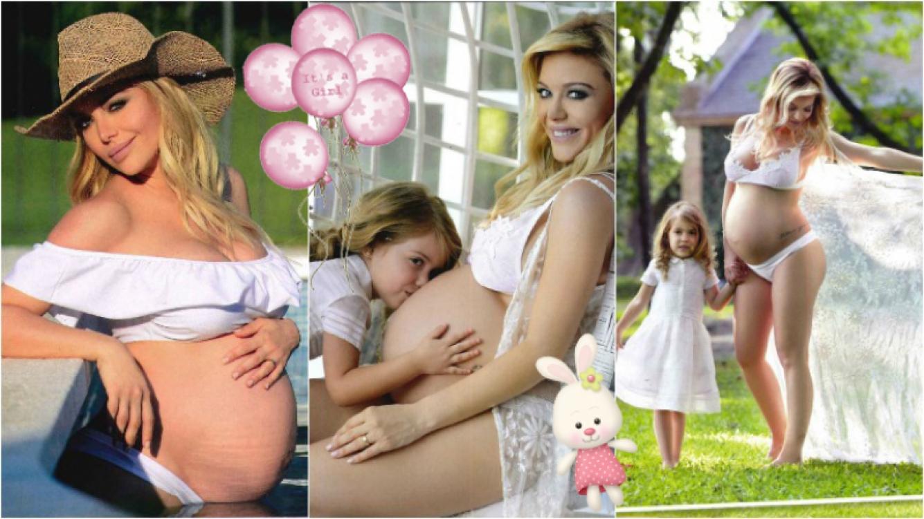 La producción de Evangelina Anderson, embarazada de 32 semanas. Foto: Revista Gente