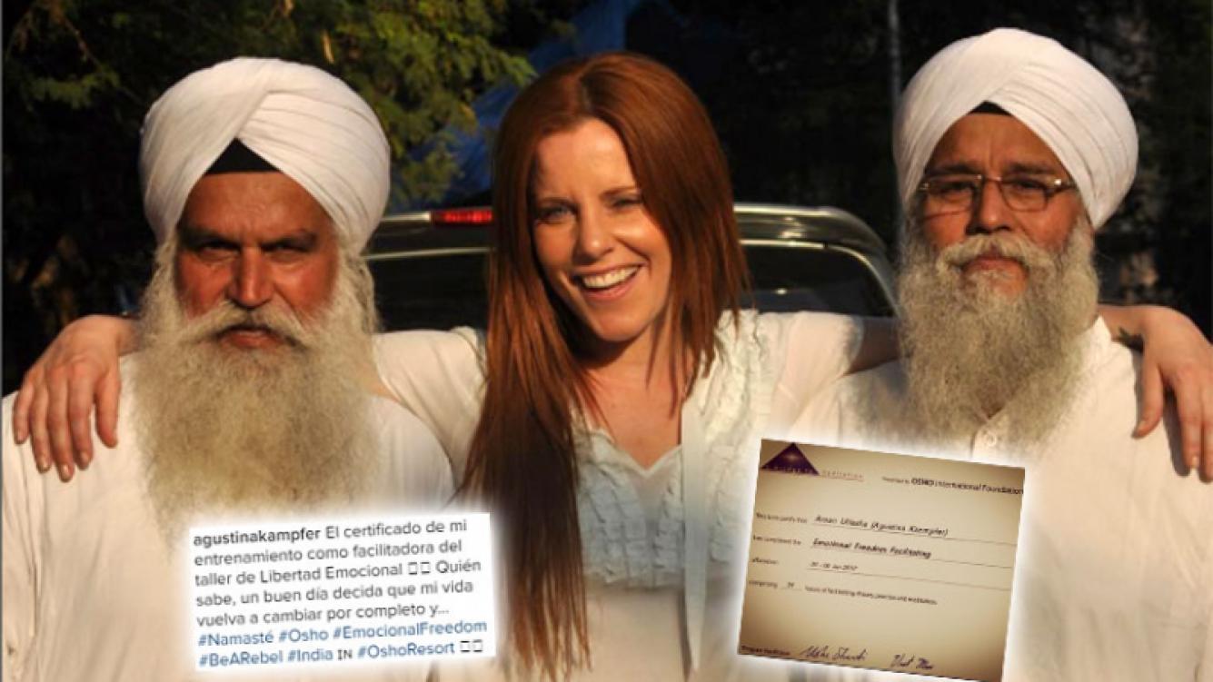 ¡Llamativo título! Mirá de qué se recibió Kämpfer en un centro de meditación en la India. Foto: Instagram