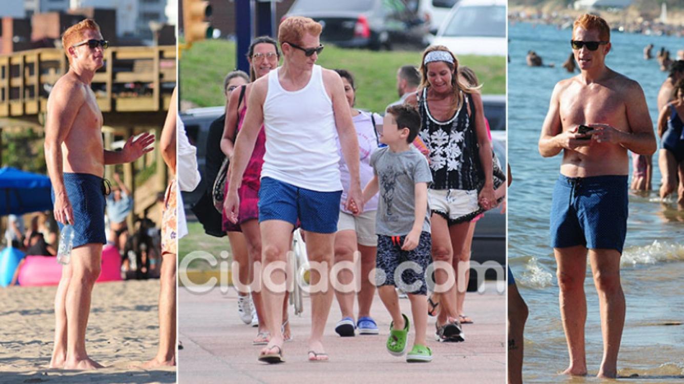 Martín Liberman y sus primeras vacaciones, tras la separación: días de playa junto a su hijo, Blas. (Foto: GM Press)