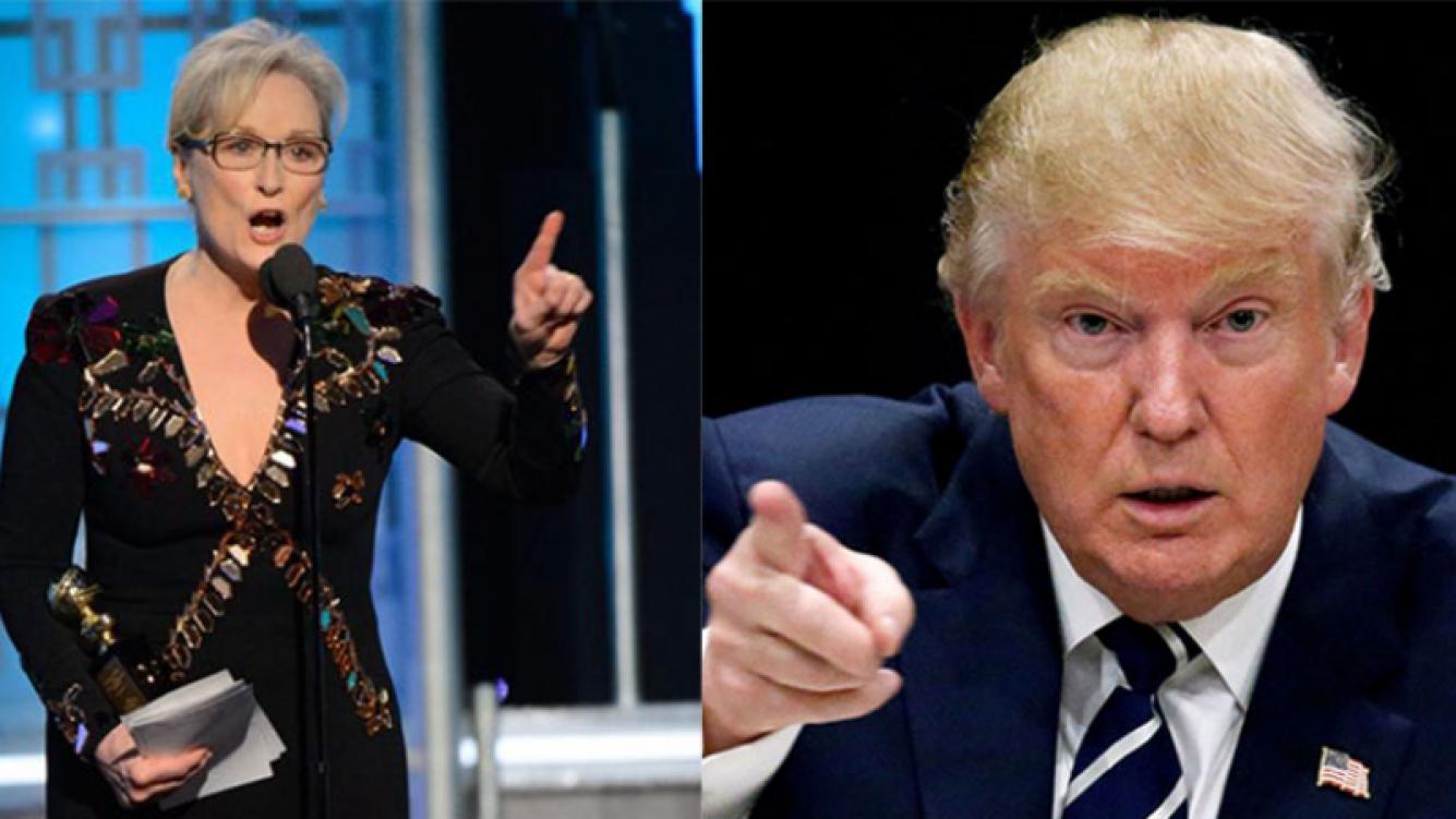 Furiosa respuesta de Trump a Meryl Streep tras el discurso del que habla el mundo.