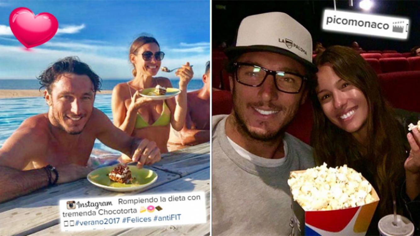 ¡A darse los gustos! Pampita y Pico, romance relajado en el Este: chocotorta y pileta, de día; cine y pochoclos, de noche. (Foto: Instagram)