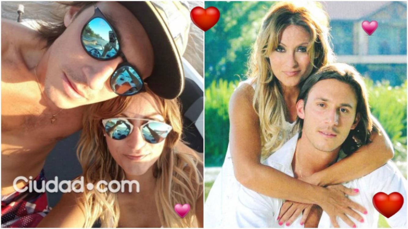 La producción de fotos de Marcela Tauro con su joven novio (Fotos: Ciudad.com y revista Caras)