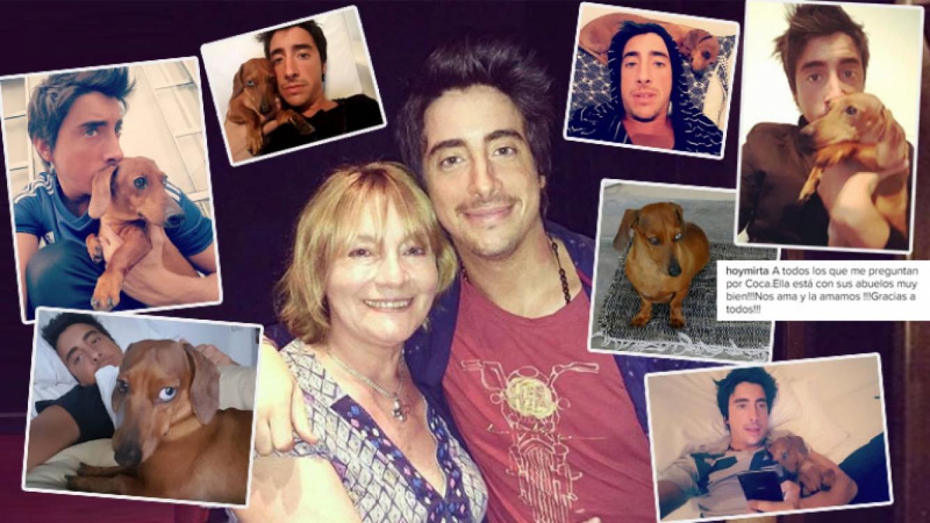 Tras la muerte de Santi Vázquez, su inseparable perrita quedó en manos de sus padres (Foto: Instagram)