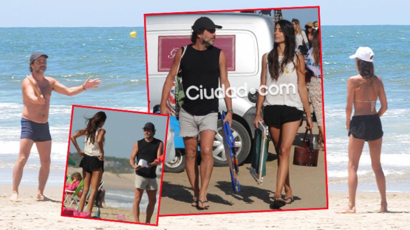 Gastón Pauls y su novia, Valentina Barrios Hackembruch, en Punta del Este. (Fotos: GM Press)