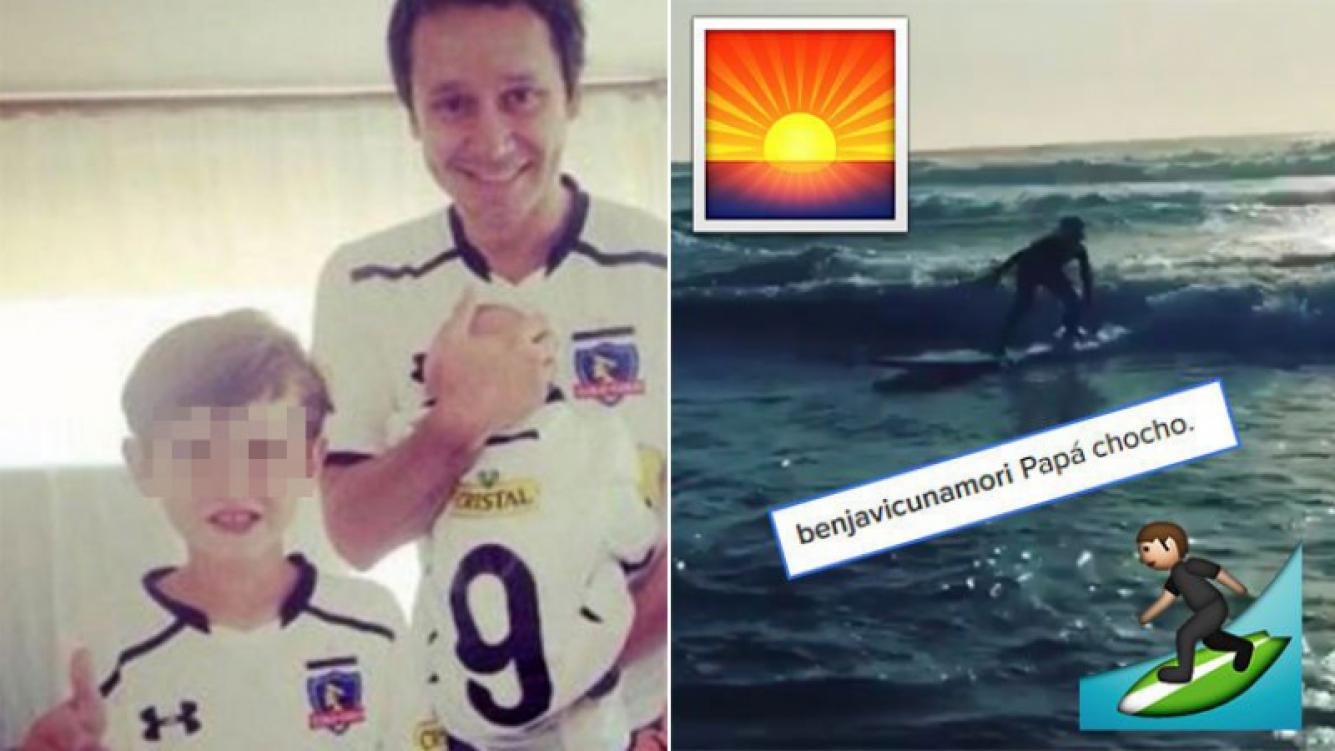 """Vicuña compartió un tierno video de su hijo Bautista haciendo surf en Chile: """"Papá chocho"""""""