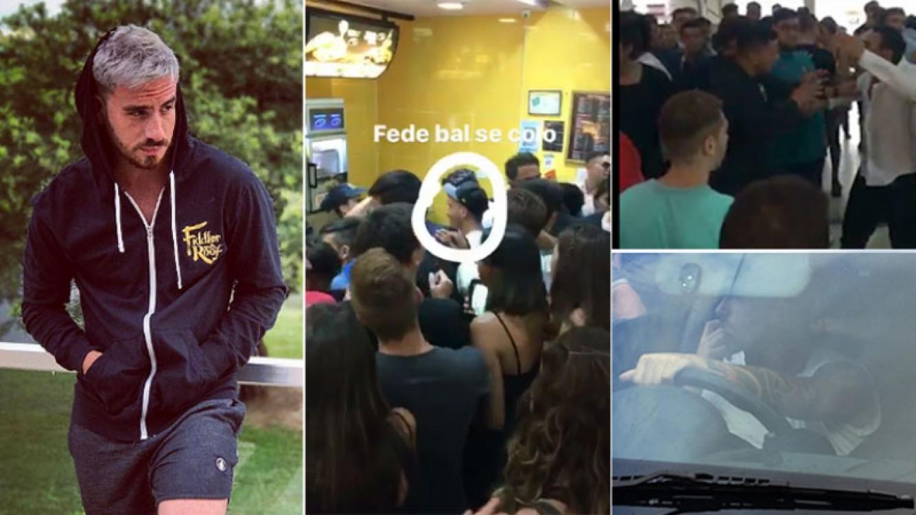 Fede Bal, inmerso en una violenta pelea en un local de comidas rápidas en Carlos Paz (Foto: Twitter)