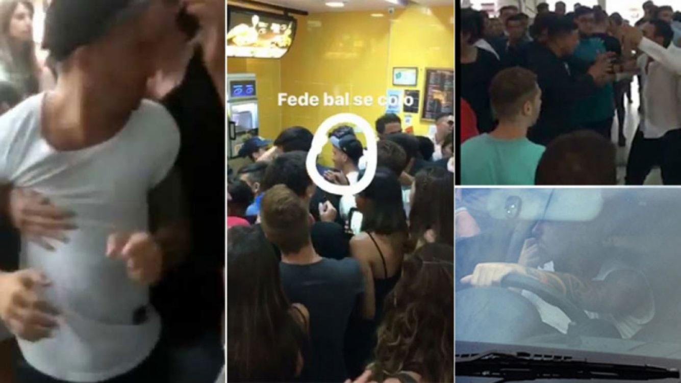 Fede Bal fue increpado por un grupo de jóvenes que lo acusaron de colarse en un Mc Donald