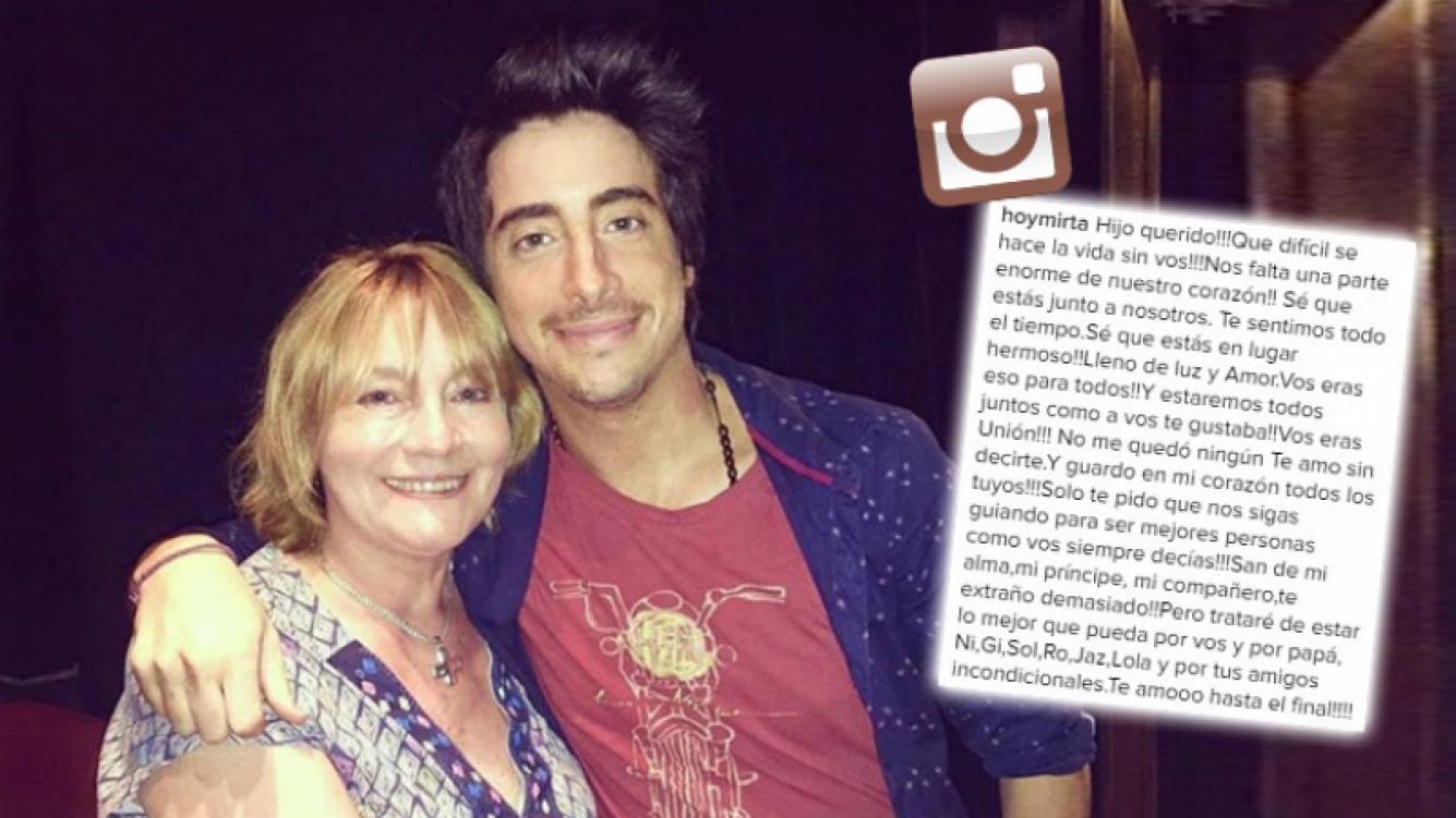 Desgarrador mensaje de la mamá de Santiago Vázquez, a un mes de su muerte. (Foto: Instagram)