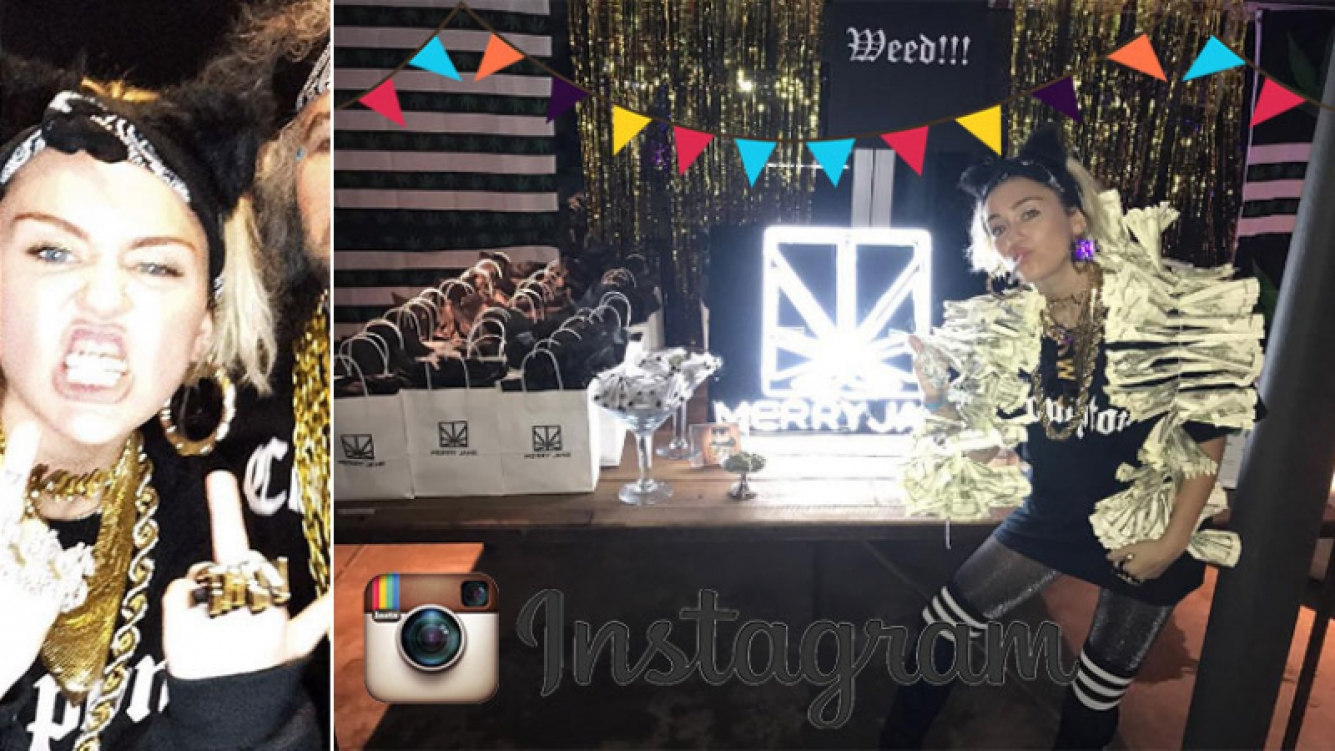 Miley Cyrus organizó una triple fiesta de cumpleaños ¡con barra libre de marihuana. (Foto: Instagram)
