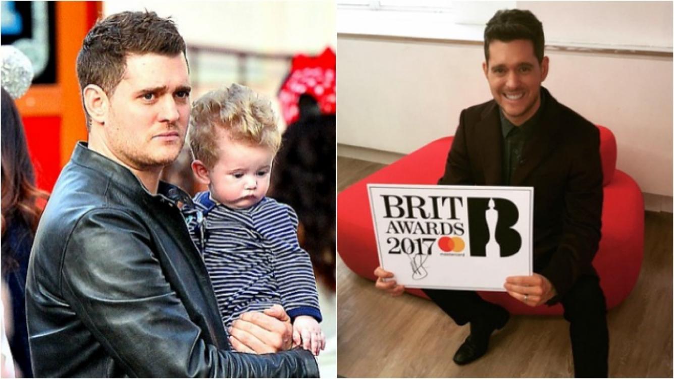 Bublé renunció a los premios Brit Awards para estar con Noah