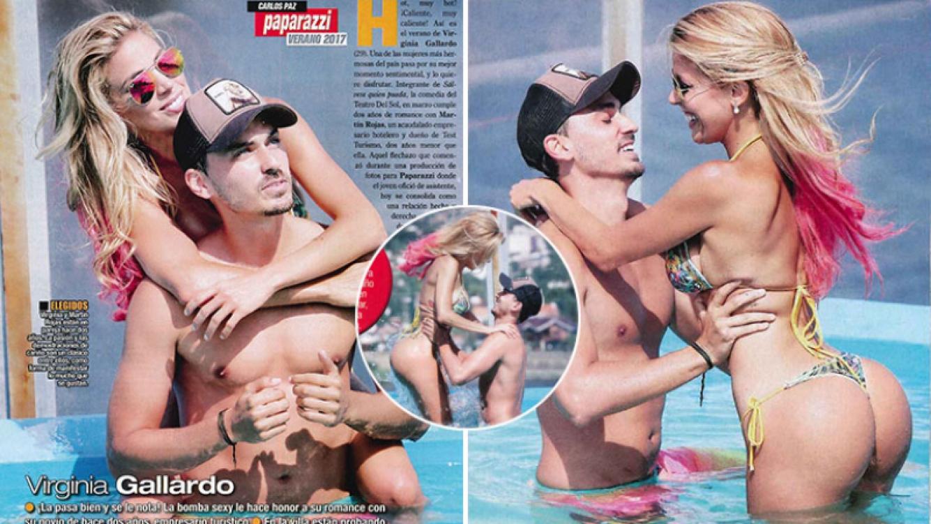 Virginia Gallardo y su novio, Martín Rojas, una pareja súper hot en Carlos Paz. (Foto: revista Paparazzi)