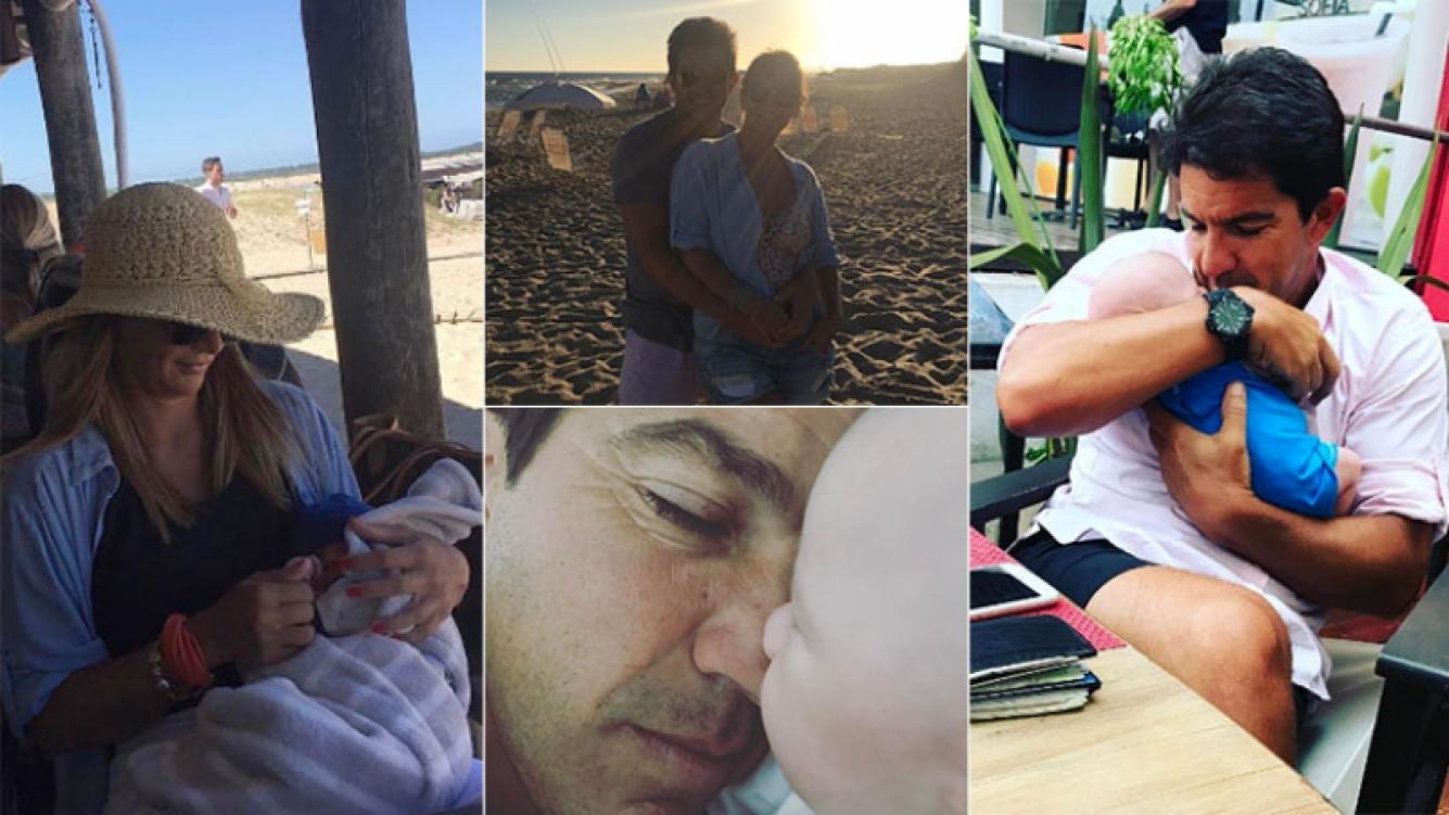 Las vacaciones de Amalia junto a Leo Squarzon y su bebé en Punta del Este (Foto: Instagram)