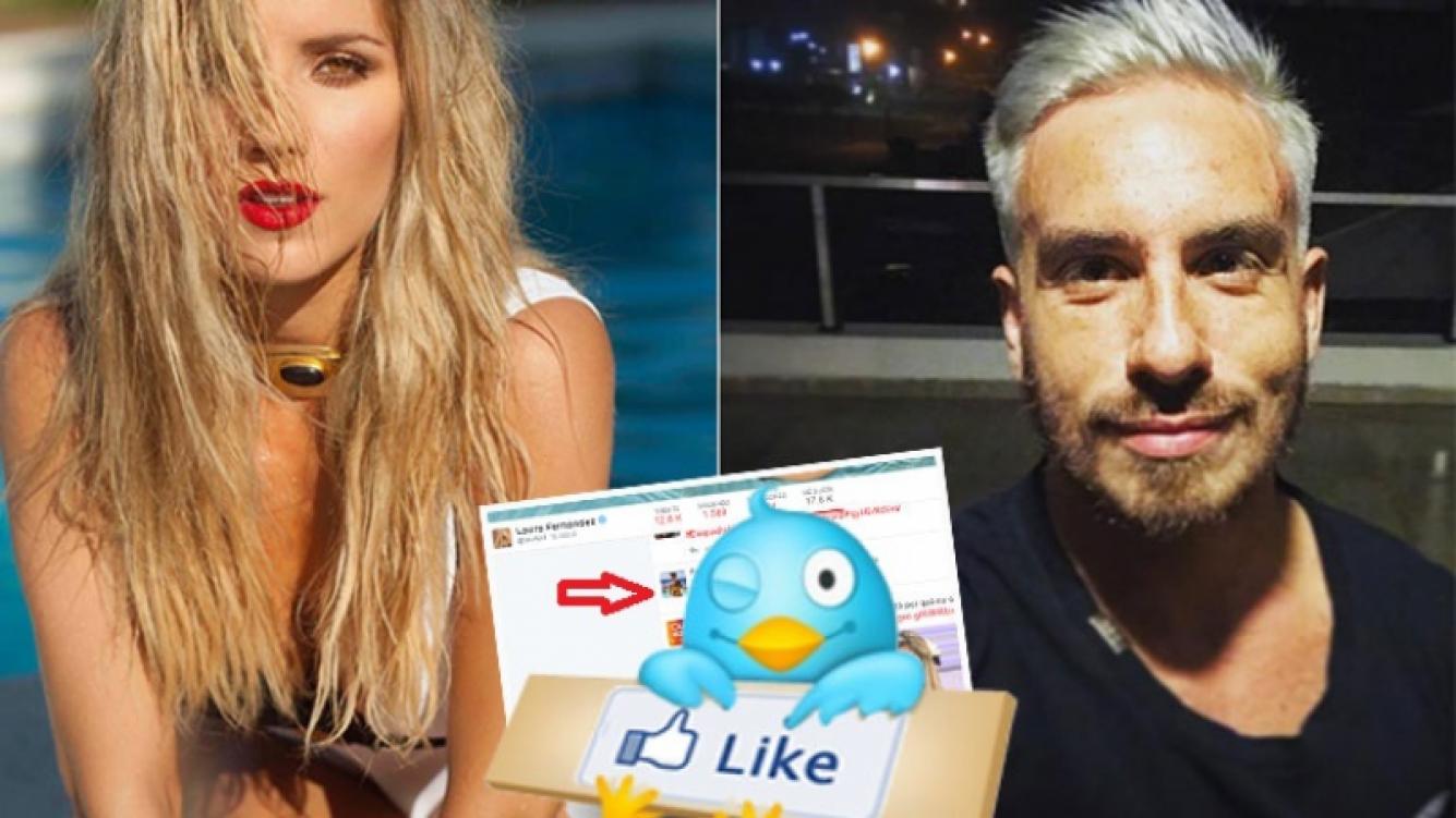 """El pícaro """"me gusta"""" de Laurita Fernández a un elocuente tweet de Fede Bal (Foto: revista Gente y web)"""