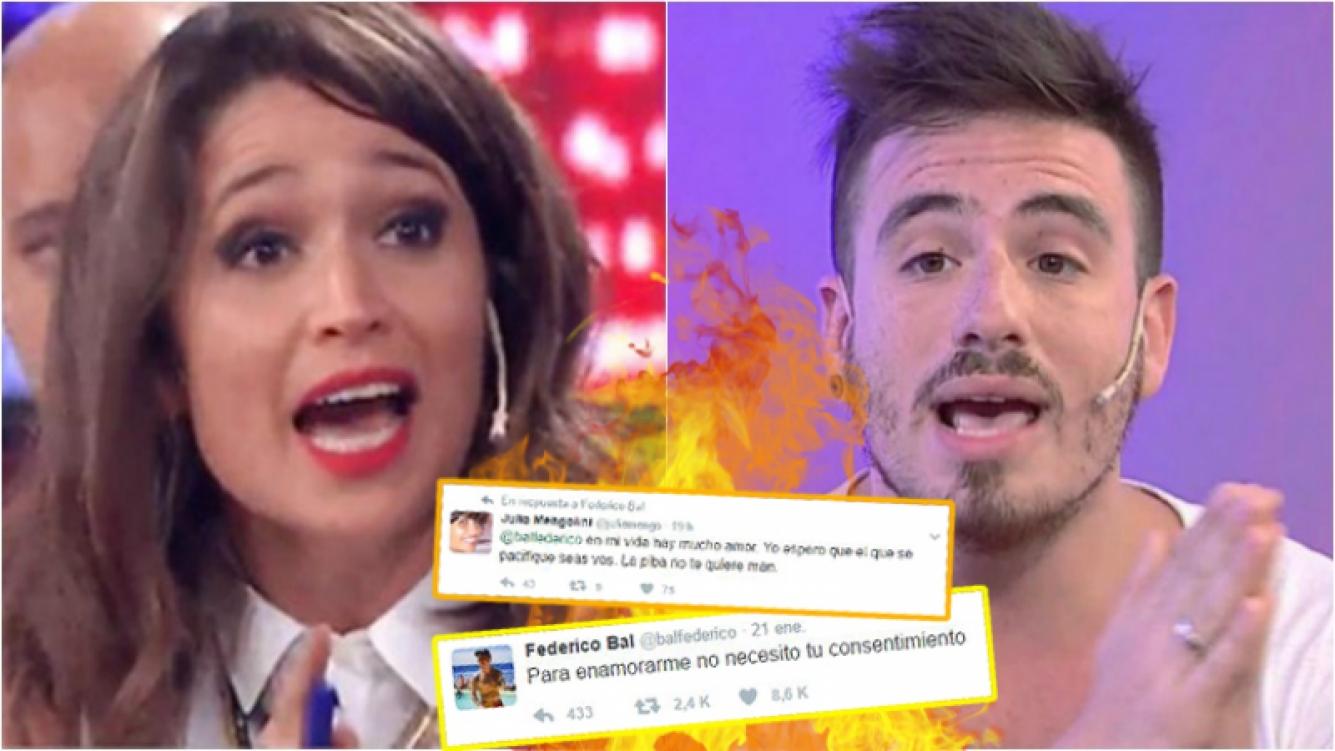 """Escandaloso cruce entre Julia Mengolini con Fede Bal... ¡por un tweet dedicado a Laurita Fernández!: """"La piba no te quiere, man"""""""