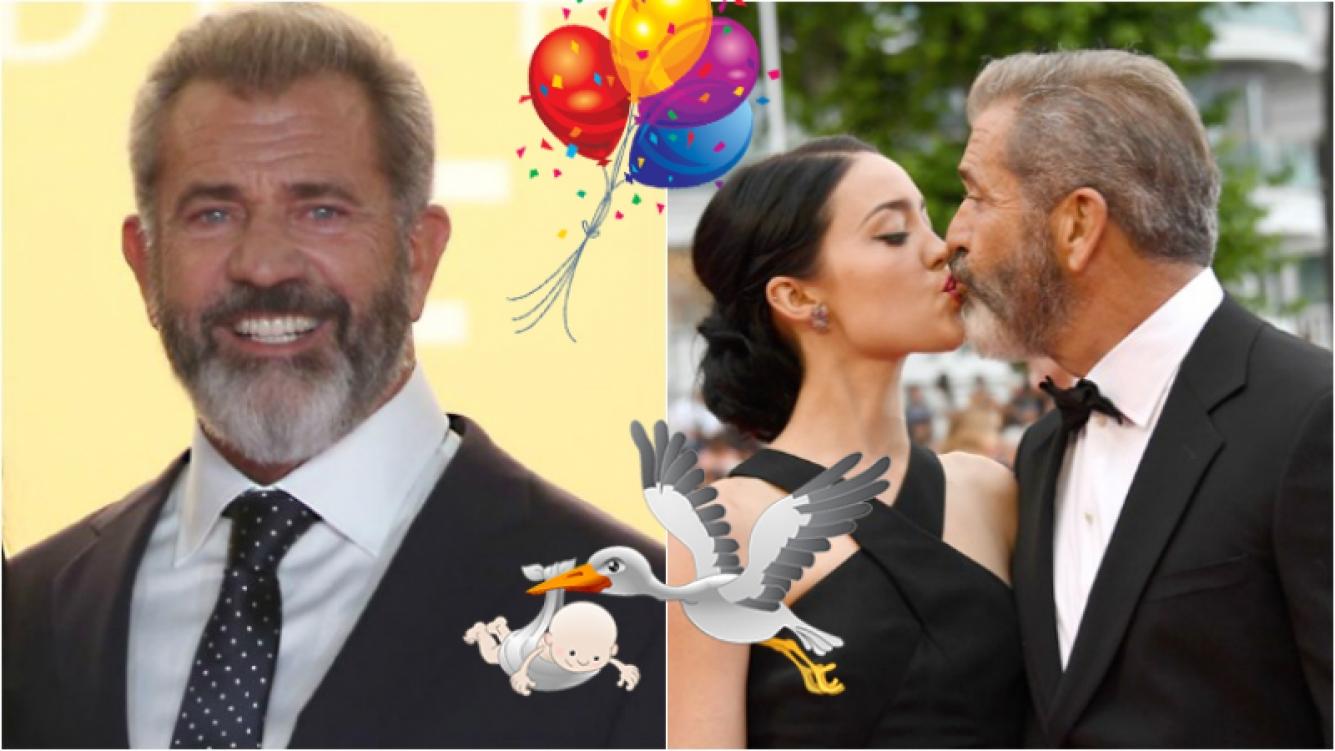 Mel Gibson se convirtió en padre por novena vez a los 61 años. Foto: Web
