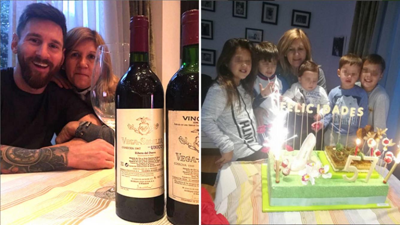 Lionel Messi brindó por el cumpleaños de su mamá, Celia, con dos botellas de vino de 650 euros cada una. (Foto: Instagram)