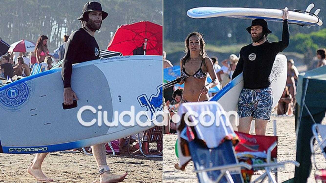 Benjamín Amadeo, de vacaciones con Martina en Punta del Este (Fotos: Reporteros Punta)