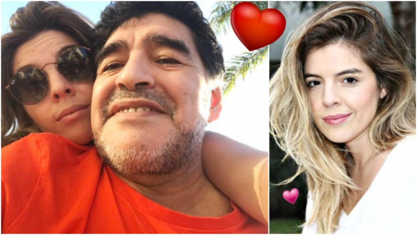 La foto de la reconciliación entre Dalma y Diego Maradona (Fotos: Twitter y Web)