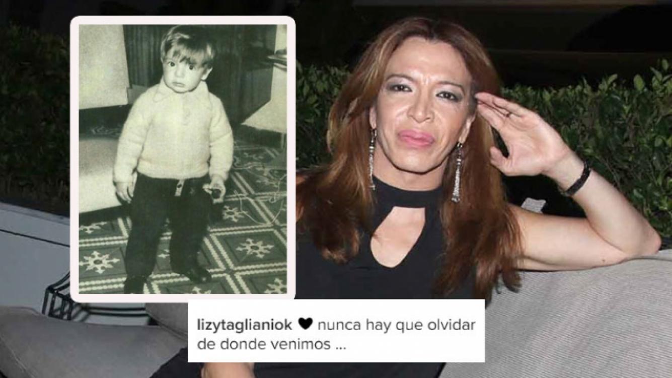 La emotiva foto de Lizy Tagliani de su niñez (Foto: Ciudad.com e Instagram)