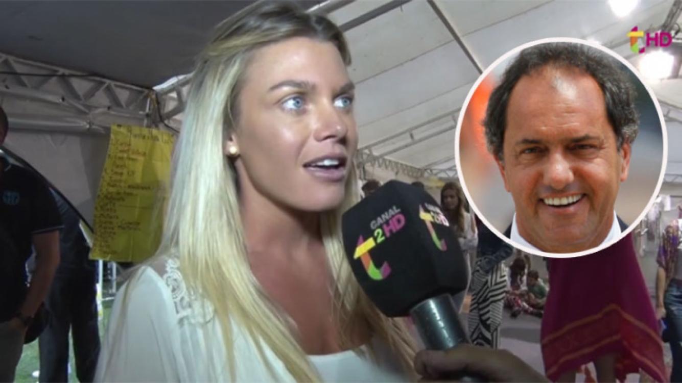 La insólita respuesta de la novia de Scioli cuando le preguntaron qué la enamoró de Daniel (Foto: web)