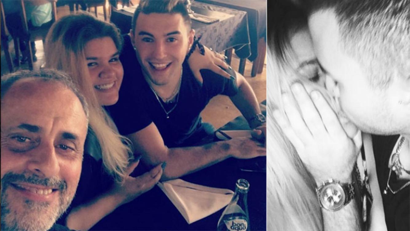 """La primera foto de Rial con su """"yerno"""", el novio de Morena. Foto: Instagram."""