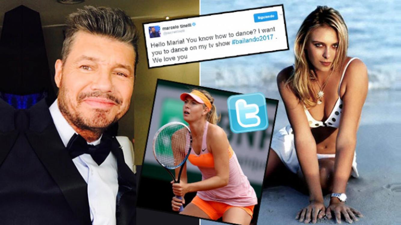 Marcelo Tinelli le escribió por Twitter a María Sharapova para convocarla a Bailando 2017. Foto: Web