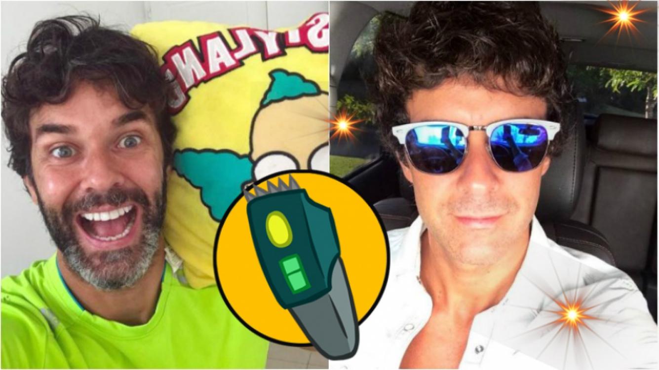 """¡A full con la afeitadora! El cambio de look de Mariano Martínez: """"Sale sin la barba blanca"""""""