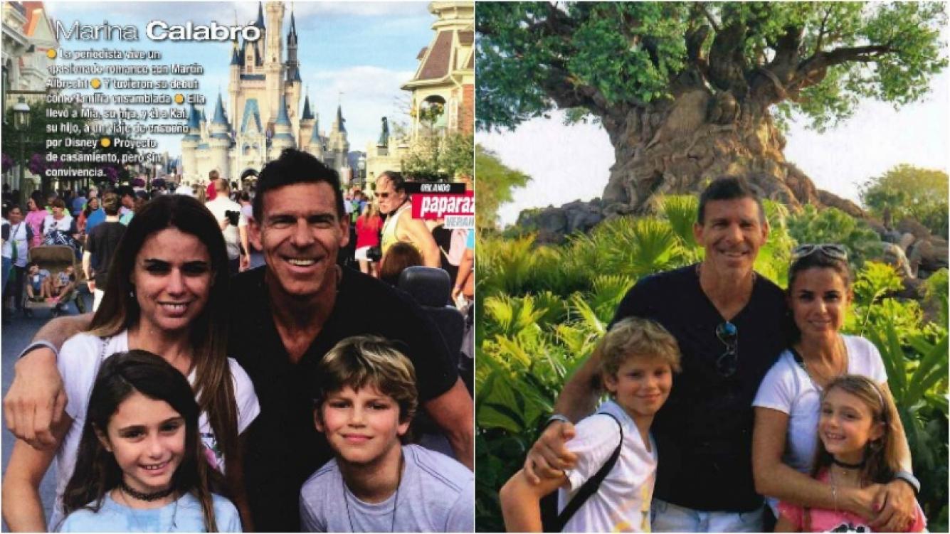 Las primeras vacaciones de Marina Calabró y Martín Albrecht con sus hijos en Disney. Foto: Revista Paparazzi