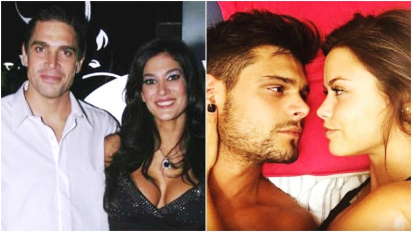 La reacción de Silvina Escudero y Matías Alé al ver a sus ex, Lucas Velasco y María del Mar, de novios (Fotos: Web e Instagram)