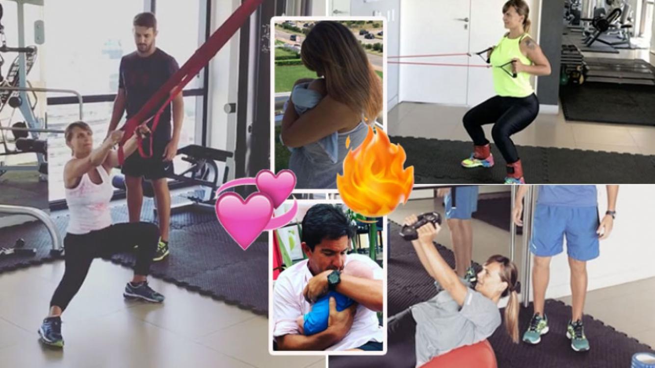 La rutina fitness de Amalia Granata, a menos de dos meses de dar a luz (Foto: Instagram)