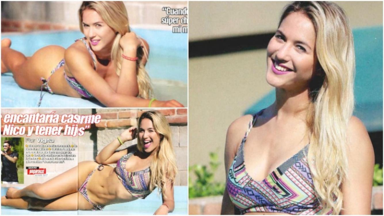La producción sexy de Flor Vigna para la revista Paparazzi (Fotos: revista Paparazzi)