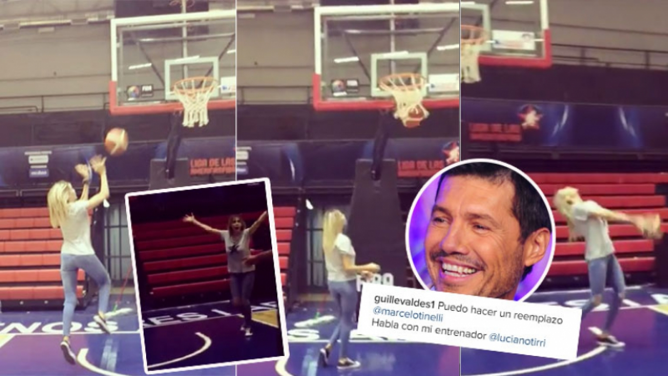Guillermina Valdés se puso a jugar al básquet (Foto: Instagram)