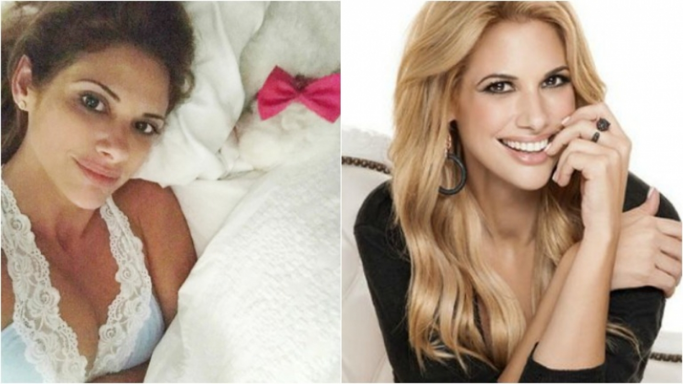 La foto sexy y al natural de Alessandra Rampolla al despertarse: cero maquillaje y escotazo. Foto: Instagram