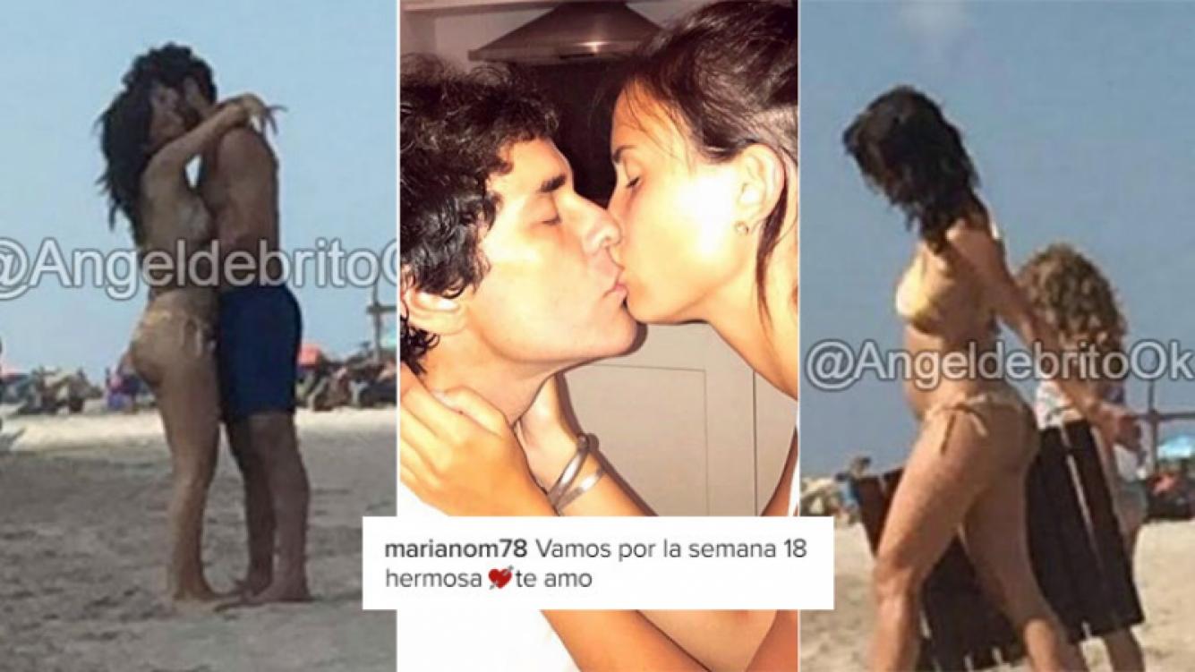Mariano Martínez, junto a Camila Cavallo, embarazada de cuatro meses y medio (Foto: Twitter)