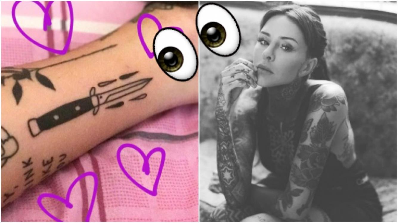 Mirá el nuevo tatuaje que Candelaria Tinelli se hizo en la pierna (Fotos: Instagram Stories)