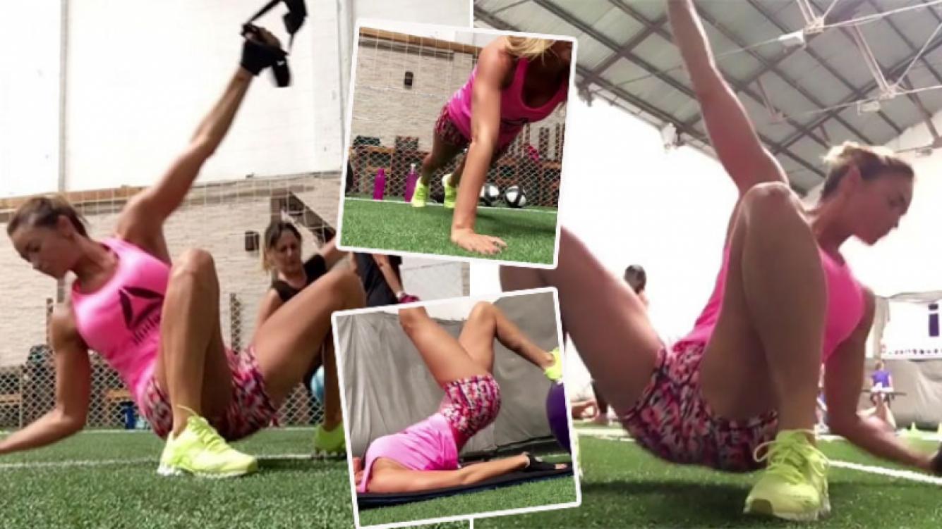Claudia Fernández y su exigente rutina de entrenamiento funcional (Foto: Instagram)