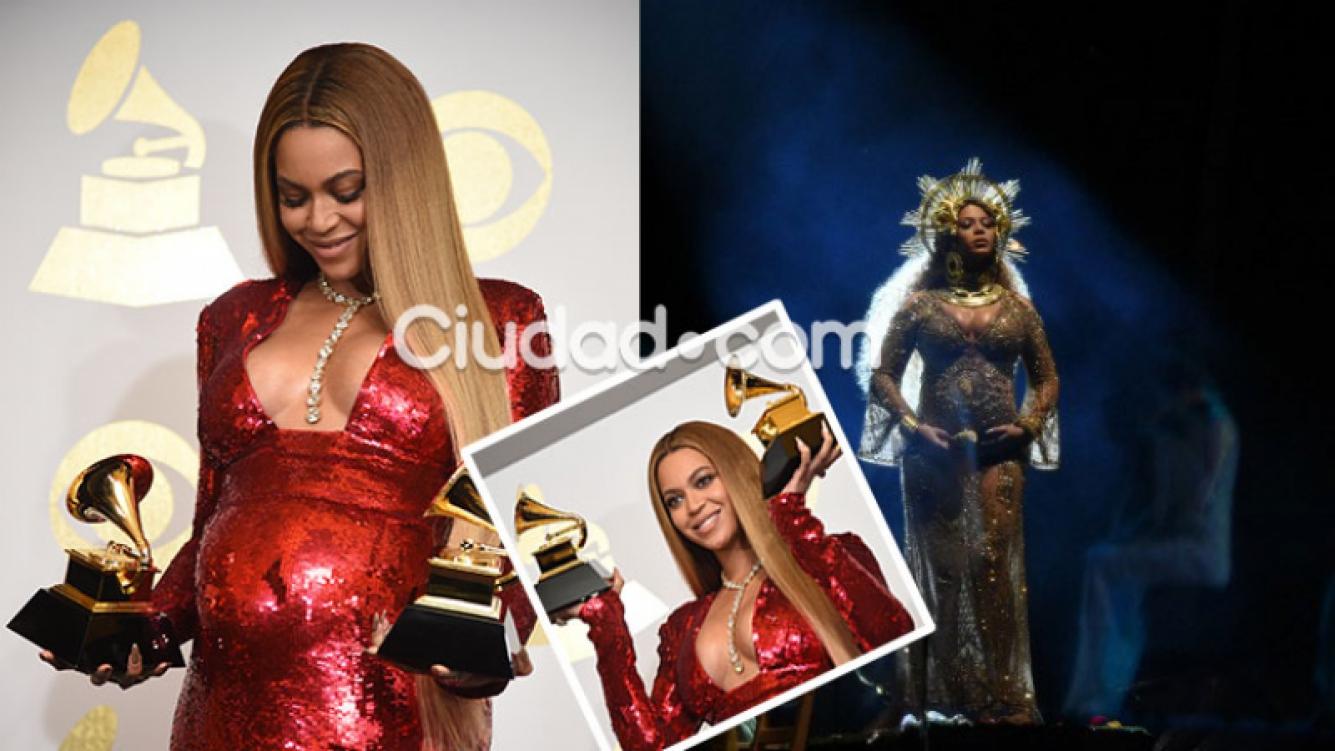 La primera aparición pública de Beyonce tras anunciar su embarazo.