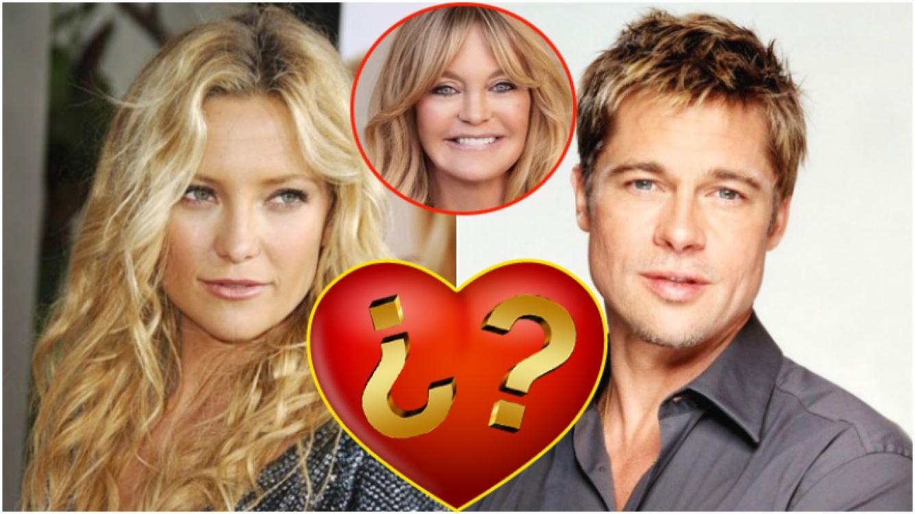 La madre de Hate Hudson habría confirmado el romance entre la actriz y Brad Pitt (Fotos: Web)