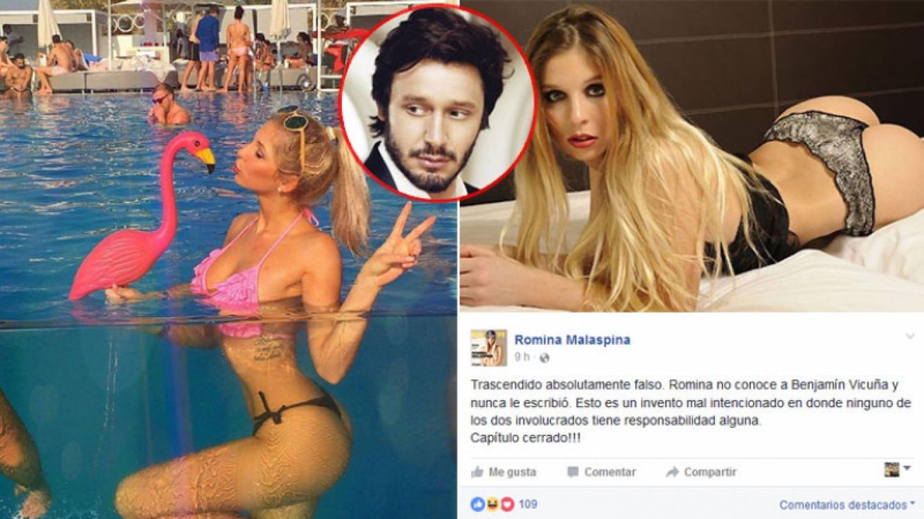 La desmentida de Romina Malaspina, tras la aparición de un supuesto chat con Benjamín Vicuña. Foto: Web