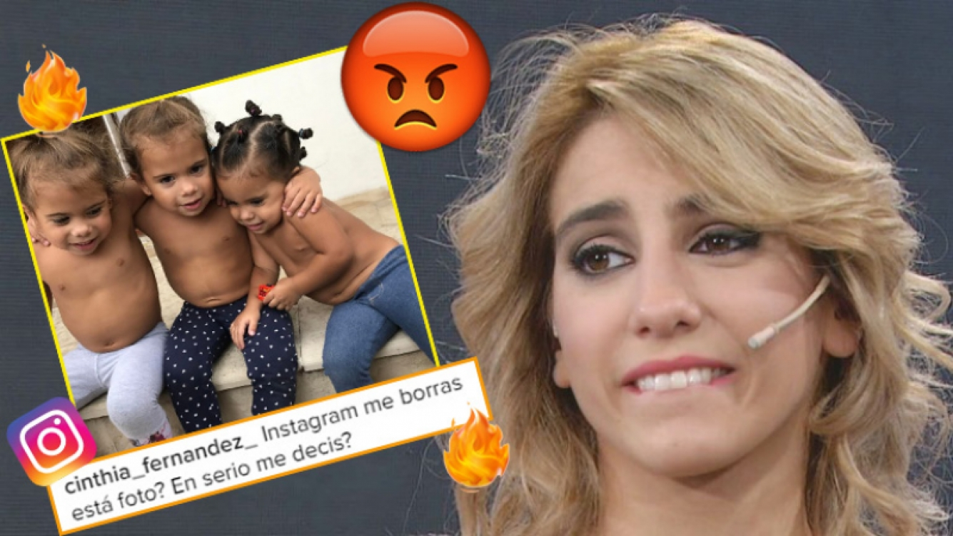La furia de Cinthia Fernández luego de que Instagram le censurara una foto de sus hijas (Foto: Web e Instagram)