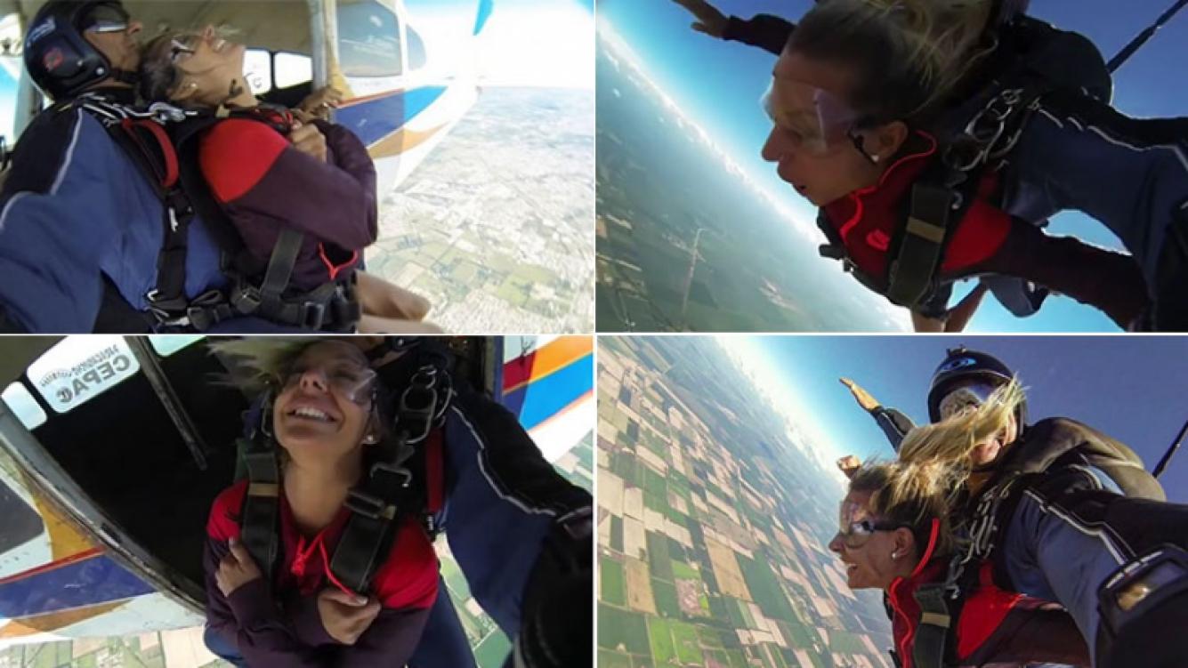 El increíble video de Noelia Marzol arrojándose en paracaídas (Foto: Instagram)