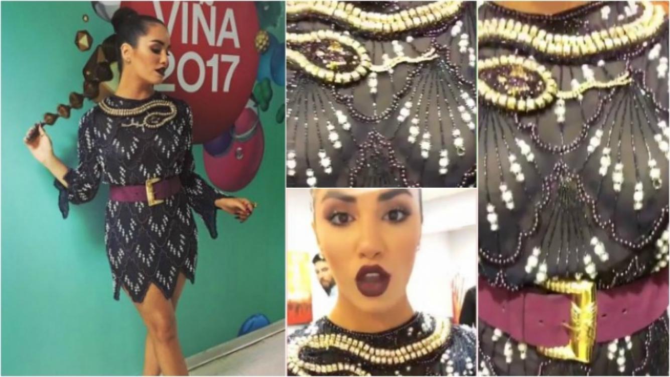 El look súper sexy con transparencias de Lali Espósito para el Festival de Viña del Mar. Foto: Instagram