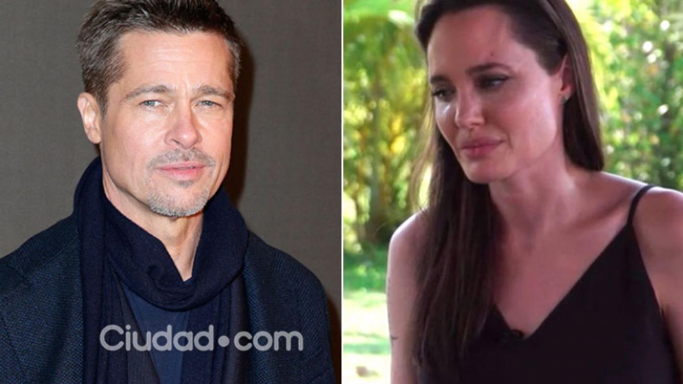 Brad Pitt, furioso tras el llanto de Angelina Jolie al hablar por primera vez del divorcio. (Foto: AFP y captura de TV)