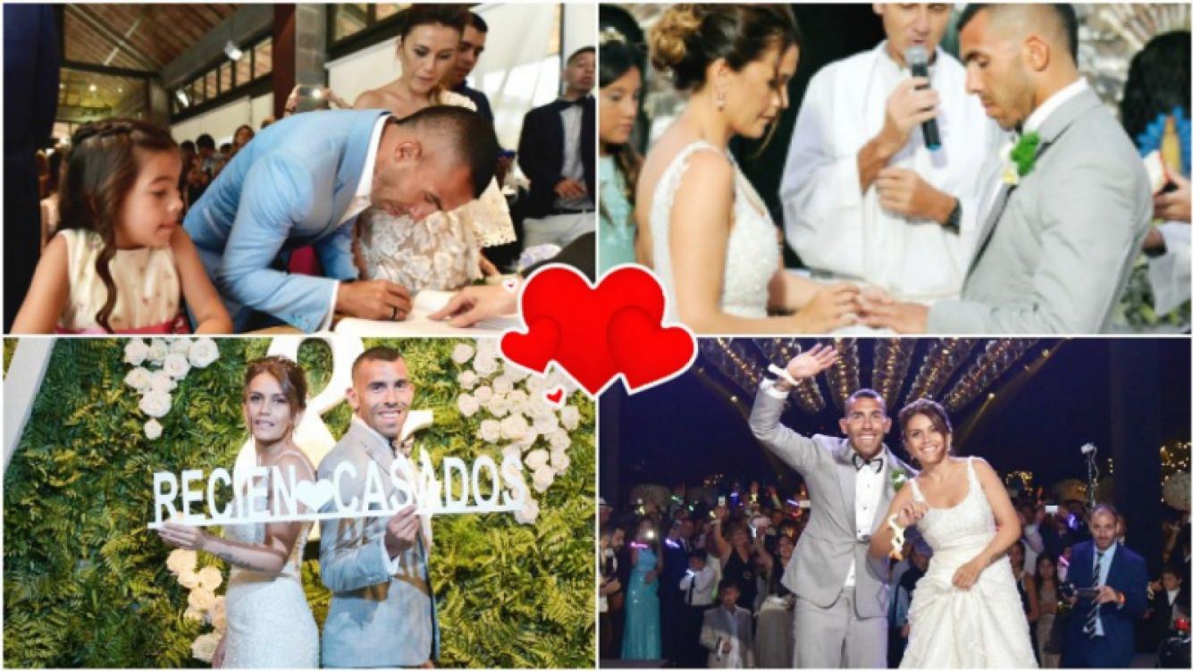 卡洛斯•特维斯与凡妮莎•曼西利亚婚礼的官方照片 (照片来源:特维斯一家/Omar Díaz摄影事务所)
